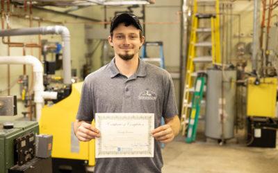 Brady Leeman Graduates from Oil Heat Technician Training