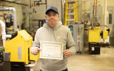 Christopher McTague Graduates from Oil Heat Technician Training