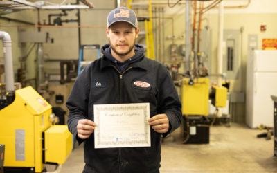 Cole Danis Graduates from Oil Heat Technician Training