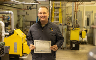 Isaac Brown Graduates from Oil Heat Technician Training