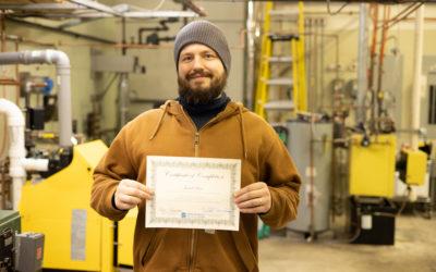 Jared Howe Graduates from Oil Heat Technician Training