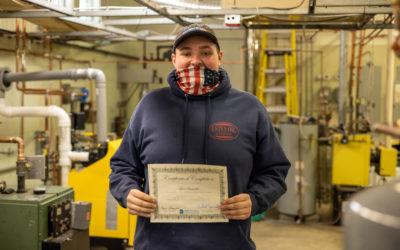 Tyler Beaudette Graduates from Oil Heat Technician Training