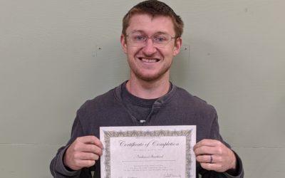 Nathan Starbird Graduates from Oil Heat Technician Training